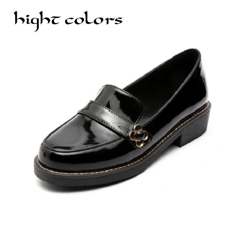 f045725cac41 Sweet Bow Patent Women Slip-on Casual Flat Oxford Shoes Fashion ...