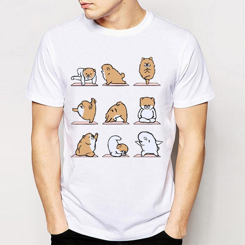 d36080b12 Wholesale Novelty Design men's short sleeve Best Friend German Spitz/Pomeranian  T shirt funny tee shirt tops young man t shirt