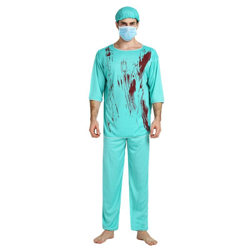Halloween Costumes Scary Men.Umorden Carnival Party Halloween Bloody Surgery Doctor Costumes Men Adult Scary Male Doctor Zombie Costume Cosplay Uniform