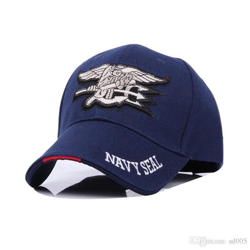 2123dd710b1 Curved Eaves Design Snapbacks Embroidery Men Women Navy Seals Caps ...