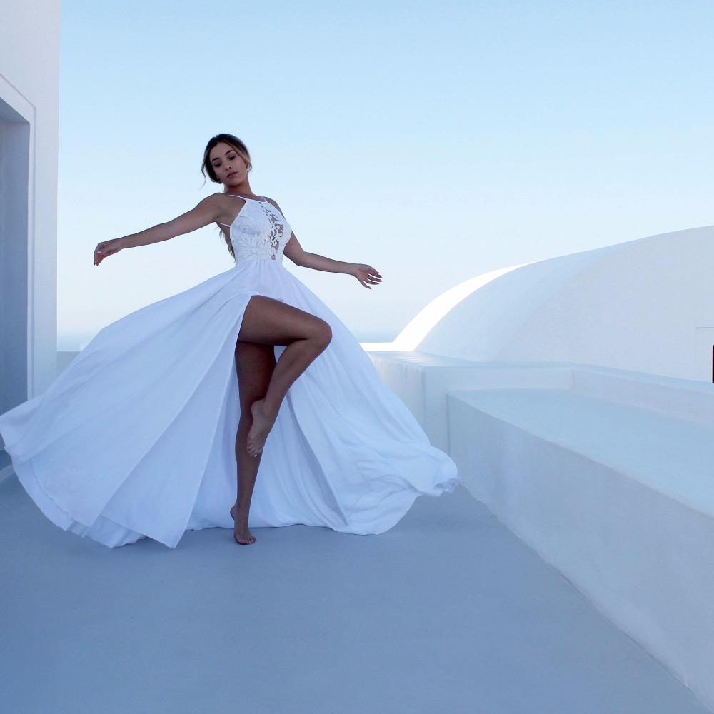 88b27a8edb9 Long White Maxi Summer Casual Wedding Dress – DACC