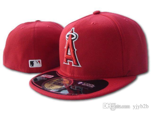 70bdcd64c58290 Wholesale Men's Angels Fitted Hats Flat Brim Hat Gorras Bones Masculino  Sport Summer Size Caps Chapeau Cheap hip hop fashion hat
