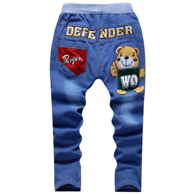 1bcc36e21a19 UNIKIDS Spring Teens Jeans For Boy Jeans Boy Pants Designer Kids Jean  Children's Elastic Waist Trousers