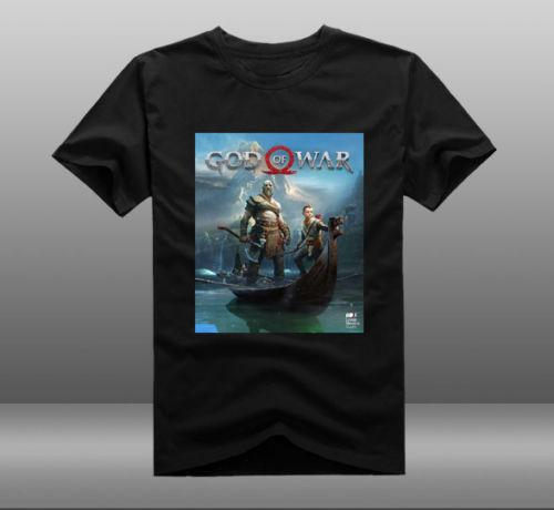 3d95f361062e 2018 Game God Of War 4 Poster T Shirts Kratos Atreus Mens Casual Short  Sleeve Cool Casual Pride T Shirt Men Unisex Fashion Retro T Shirts Tshirt  Designs ...