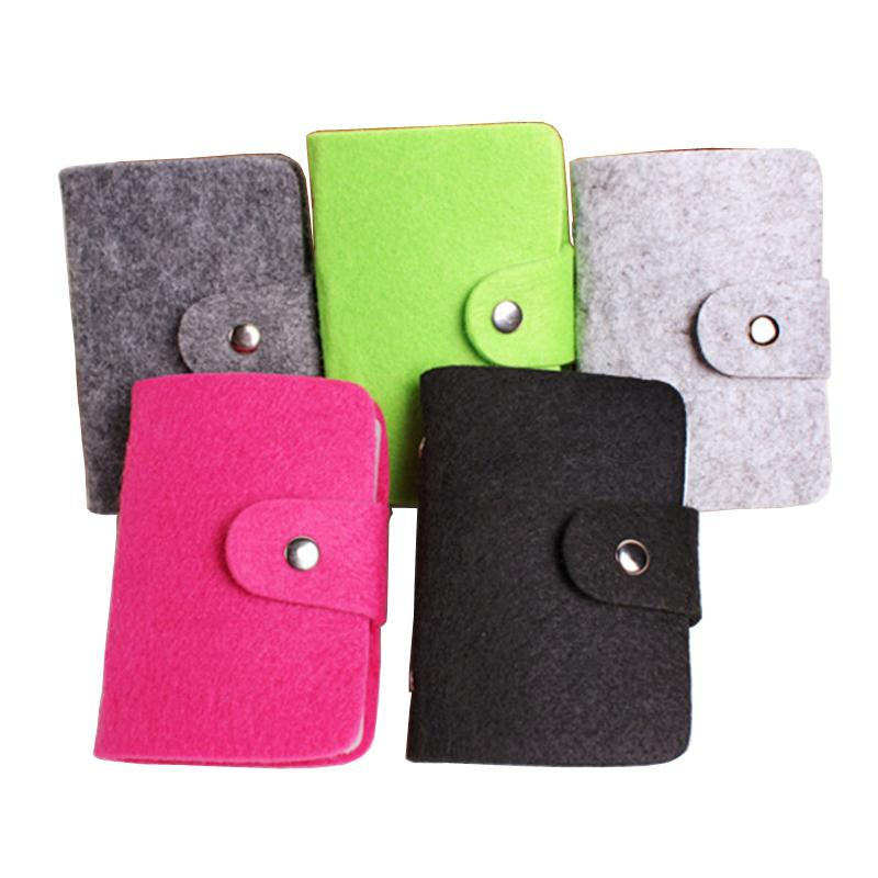 Hot Sale Fashion 24 Bits Cards Holders Quality Suede Business Porte ...