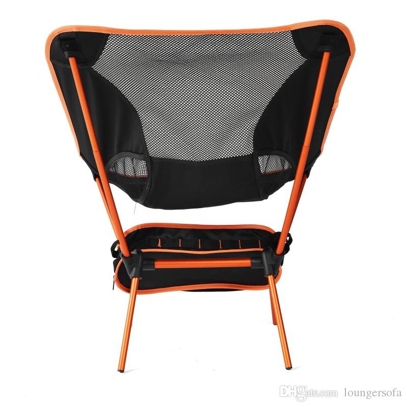 Ultralight Folding Chair Aluminium Alloy Camping Fishing Stool Casual Anti Tear Breathable Beach Backrest Chairs Portable Top Quality 75hj B