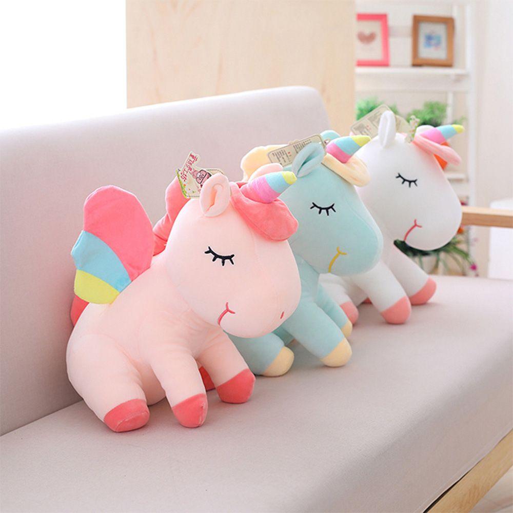 89fd0fcefa6 2019 Unicorn Plush Toy Cute Unicorn Doll Cute Animal Stuffed Unicornio Soft  Pillow Baby Kids Toys For Girl Birthday Christmas Gift From Anna88888