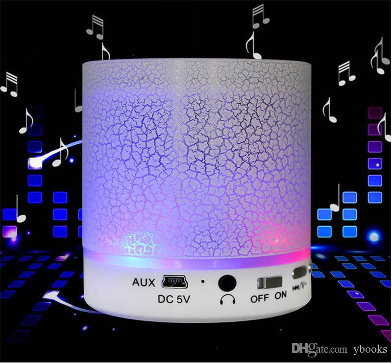 Drahtloser Lautsprecher Bluetooth Mini-Sprecher A9 führte farbigen grellen Lautsprecher FM Radio TF Karte USB für iPhone X 8 Handy PC S8