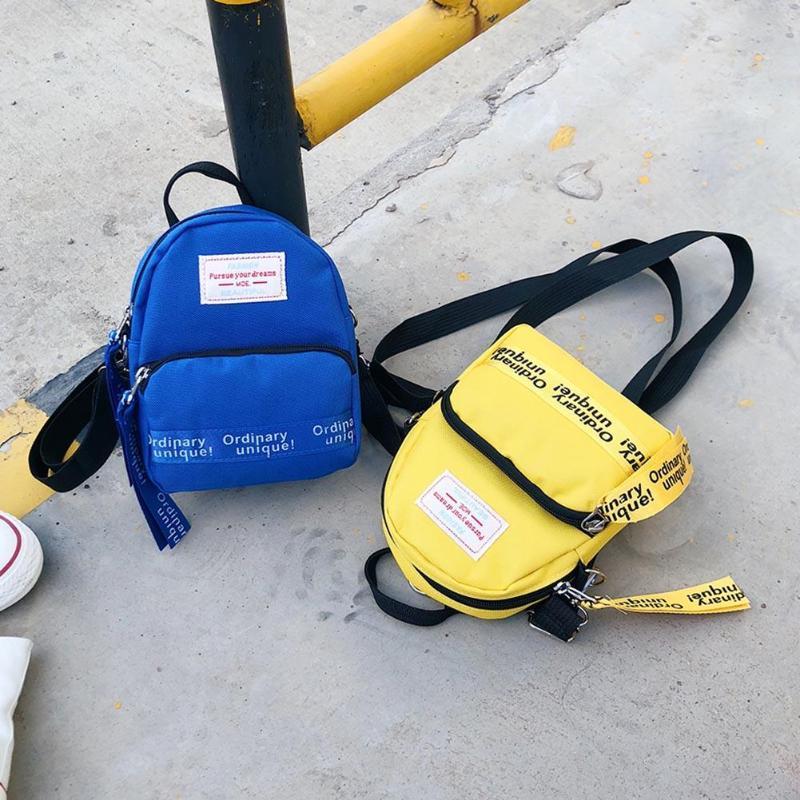 4002b3479b Fashion Letter Print Women Nylon Mini Backpack For Teenage Girls Shoulder Bag  Travel Pack Female Casual Crossbody Bags Rucksacks Backpacks For Men  Jansport ...
