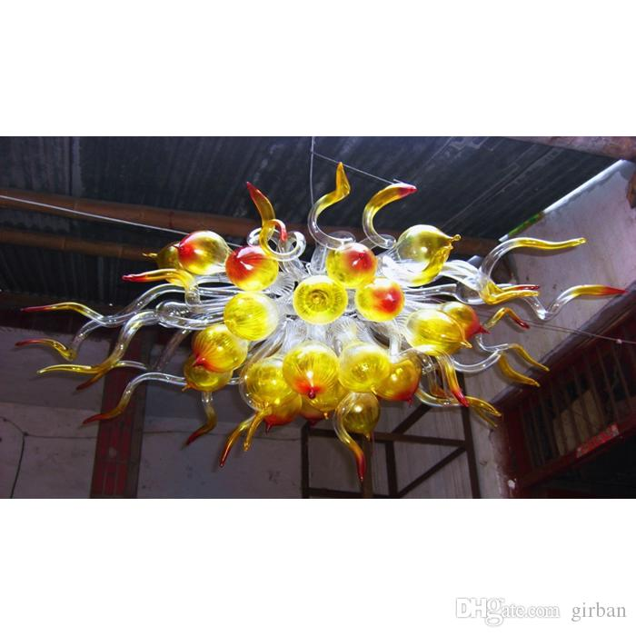 Balls Chihuly Glass G9 LED Bulbs for Home Hanging Lamp Energy Saving Lighting 18W Warm White Ceiling Lamp