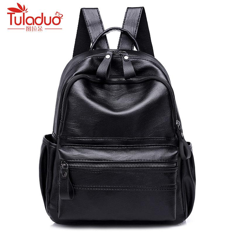 Brand 2018 Solid High Quality PU Leather Backpack Women Designer School Bags  For Teenagers Girls Luxury Women Backpacks Gregory Backpacks Army Backpack  From ... cc41f66e5aa0e