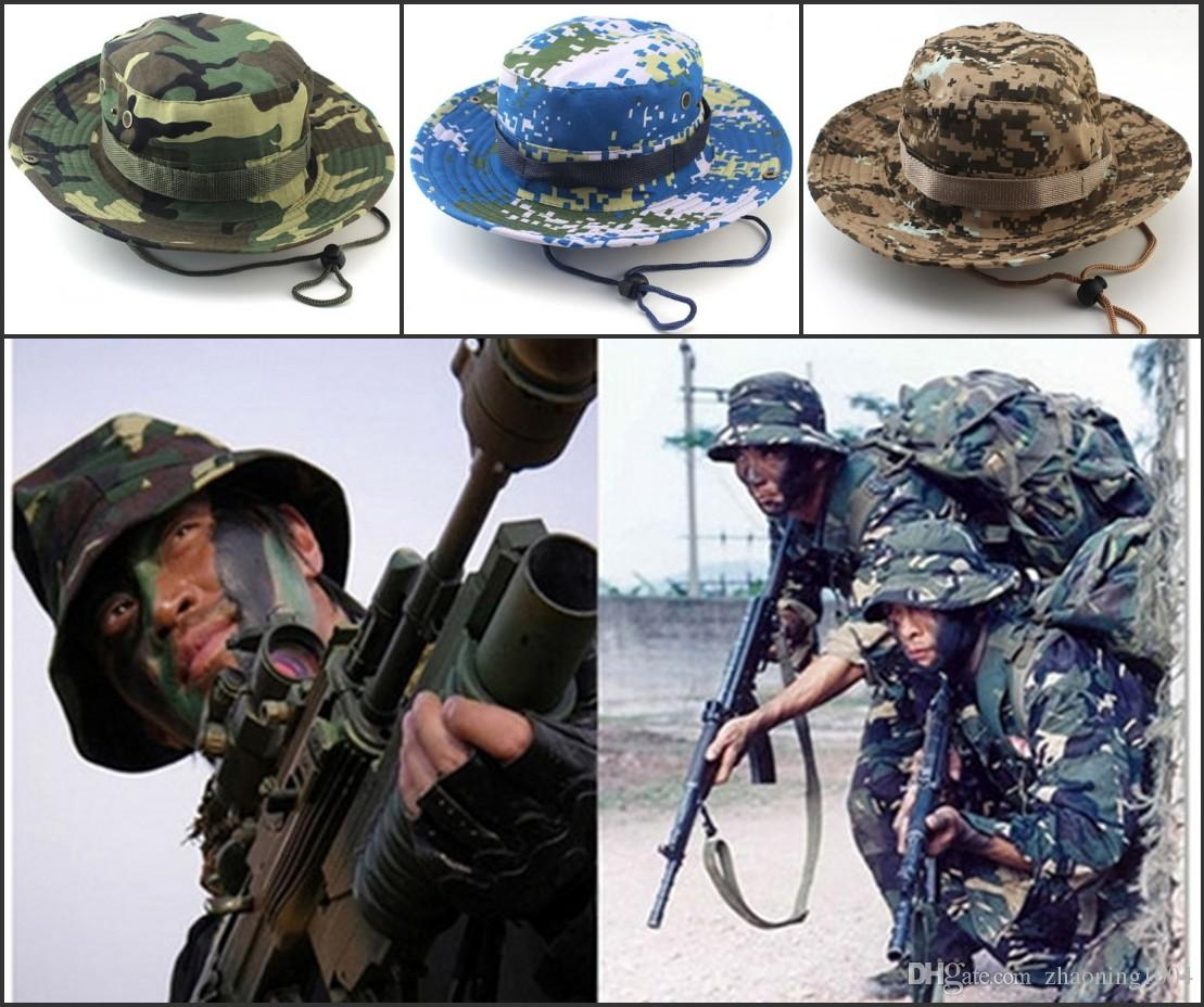 f7d5b9462b30d Designer Foldable Cotton Boonie Hat Sport Camouflage Jungle Military Cap  Adults Mens Womens Cowboy Hats For Fishing Packable Army Bucket Hat Mens  Hats ...