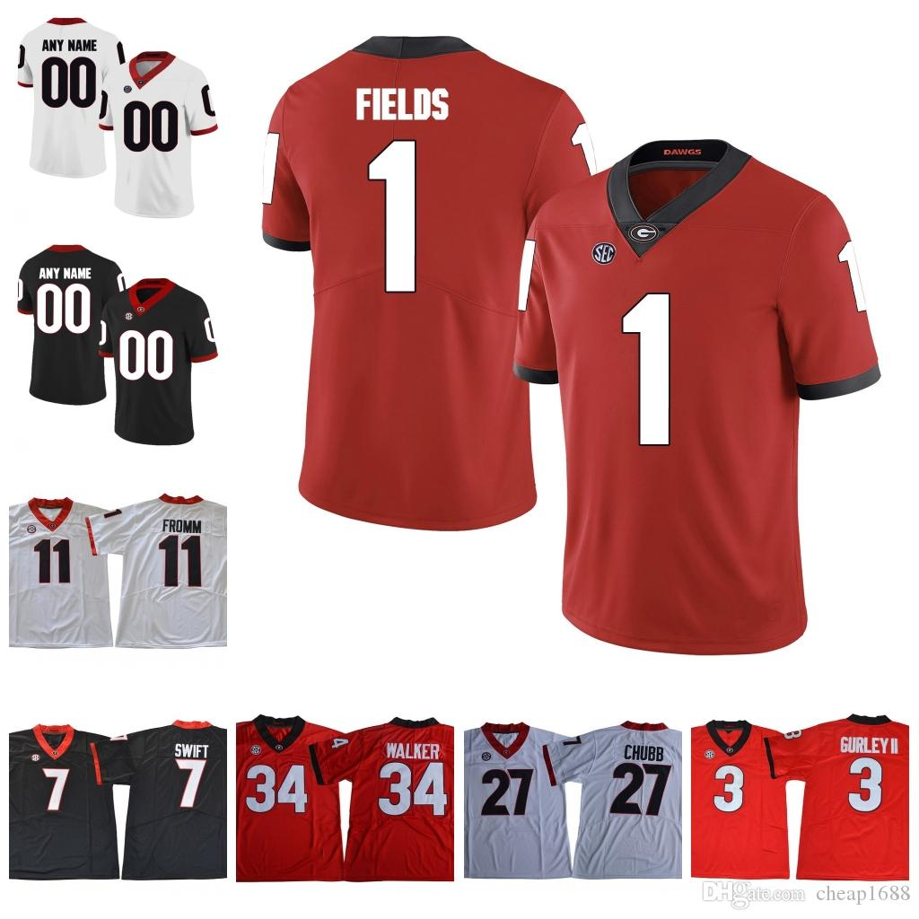 bb557cdab 2019 Georgia Bulldogs College Football  1 Brenton Cox 8 Tyson Campbell 3  Zamir White Custom Stitched Any Number Name UGA Jersey From Cheap1688