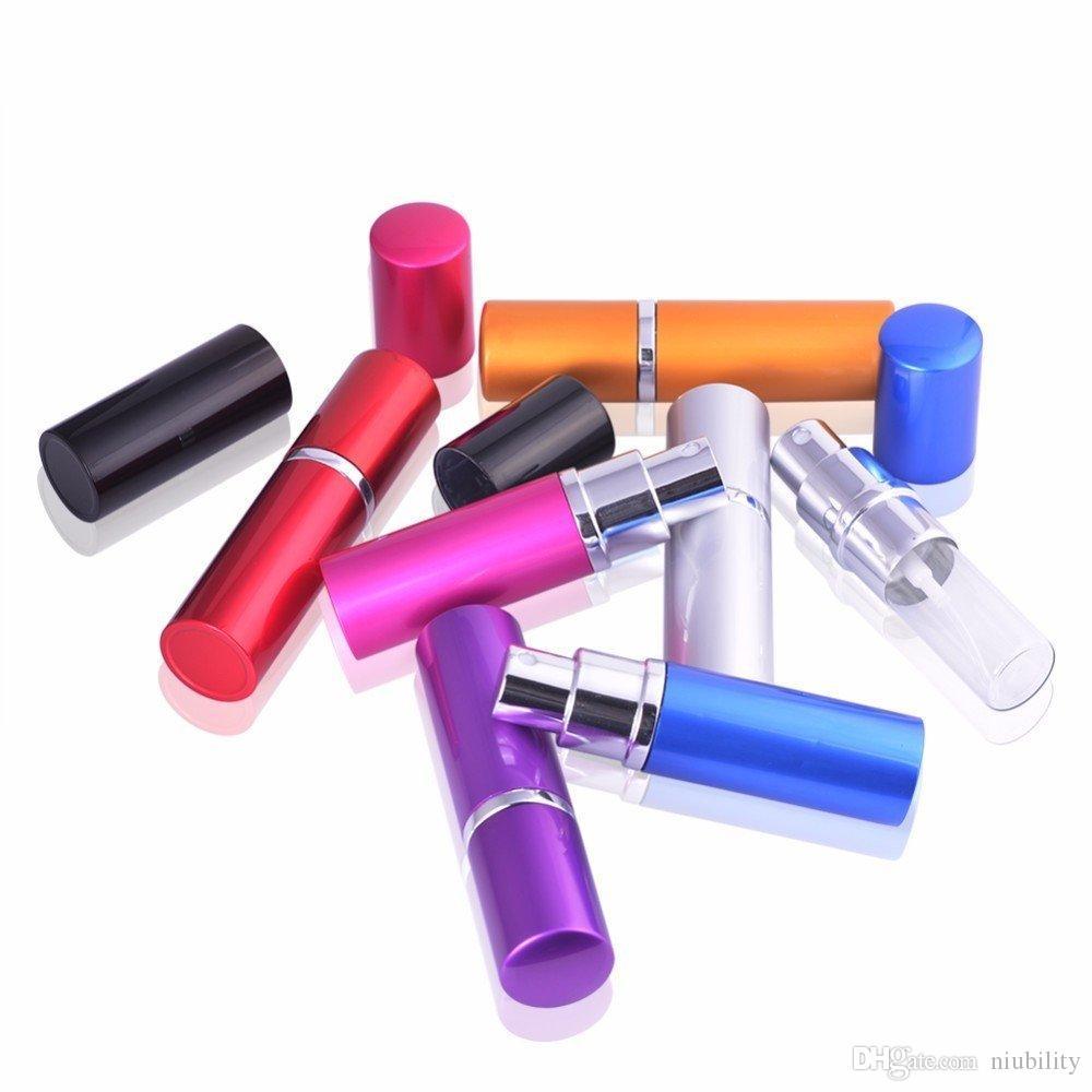 5 ml Mini Botella de Perfume de Aerosol de Viaje Botella de Perfume Contenedor Vacío Rellenable Atomizador Botellas Rellenables de Aluminio de buena calidad
