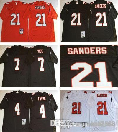 385c51de3 ... australia men atlanta falcons 4 brett favre 7 michael vick 21 deion  sanders white black home