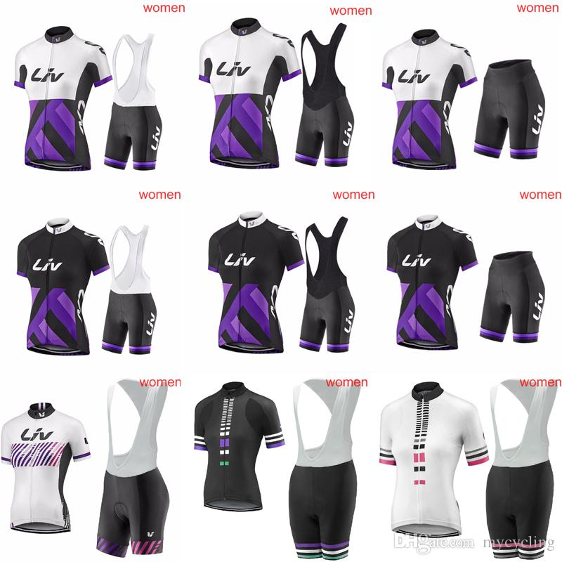 LIV Summer Women S Cycling Jerseys MTB Bike Shirts Bib Shorts Set Racing  Clothing Riding Garment Bicycle Top And Short Ropa Ciclismo C3011 Cycling  Team ... 378bb4543