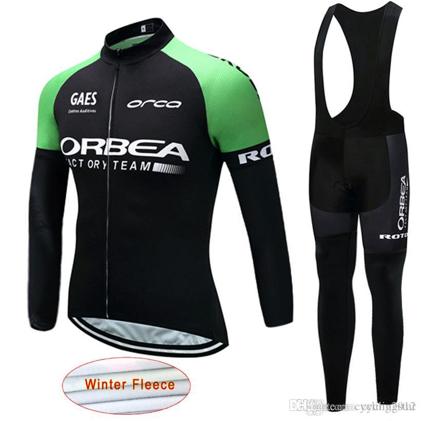 2018 Pro Team ORBEA Cycling Clothing Winter Thermal Fleece Men ... 52998dc0a