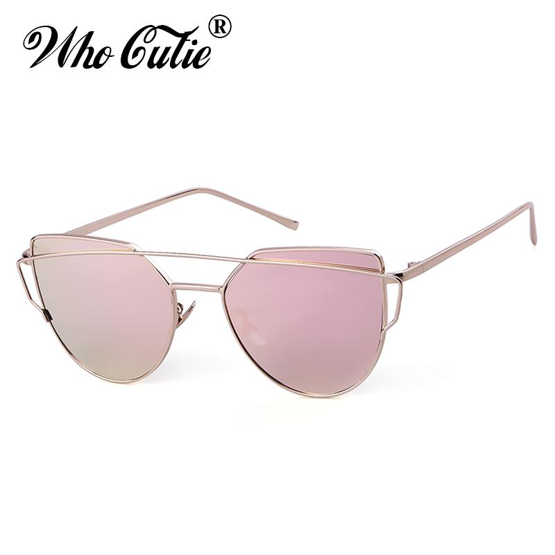 a87dc621126e WHO CUTIE Women Cat Eye Sunglasses Brand Design 90s Vintage Gold Metal  Frame Rose Pink CATEYE Lady Sun Glasses 2019 Trendy OM808 Vintage Sunglasses  Super ...
