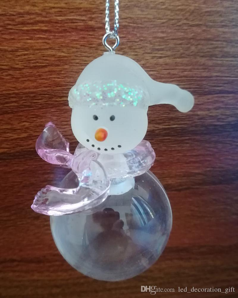 New brand hang female snowman decoration christmas festive ornaments acrylic fascinating snowflake diamonds design drop shipping low price
