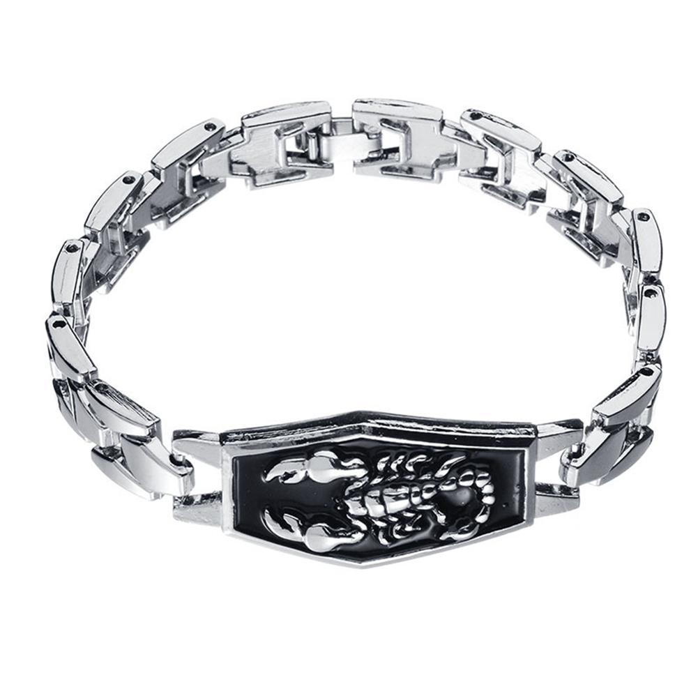 5304bb216ce5 Compre Hot Fashion Alloy Silver Scorpio Scorpion Charm Bracelet Punk Alloy  Bangle Wristband Hip Hop Joyería Regalo De Cumpleaños A  34.58 Del  Amoywatches ...