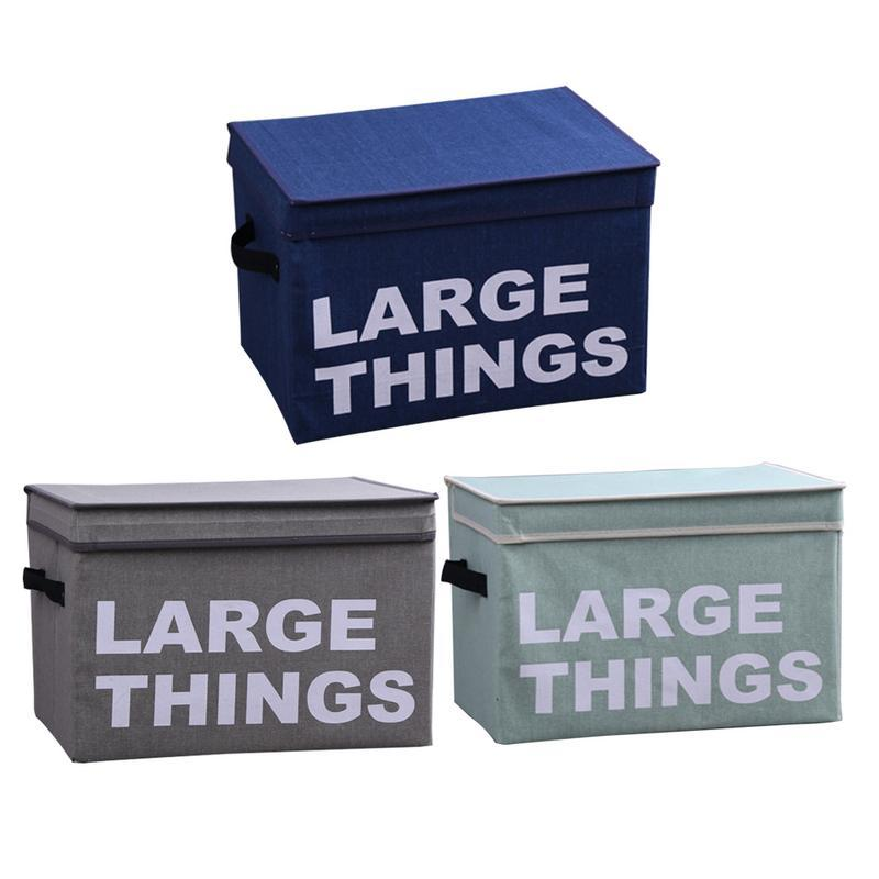 New Arrival Cotton And Linen Storage Box Folding Art Printing Letter  Storage Box Household Organizer Hot Selling