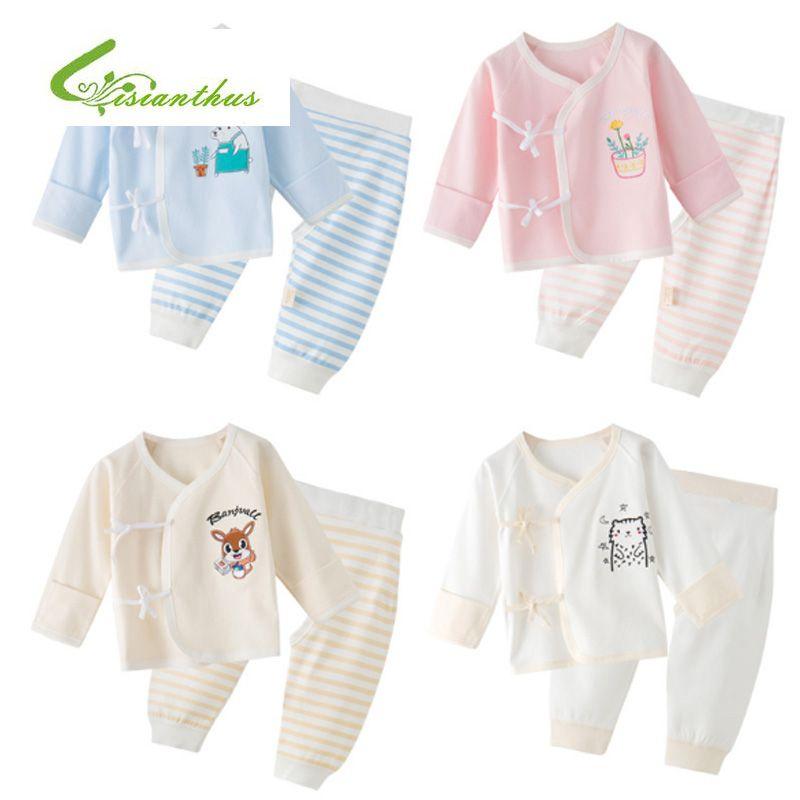 dff233a84af7 2018 Spring Summer Newborn Baby Clothing Set Cartoon Cotton Baby ...