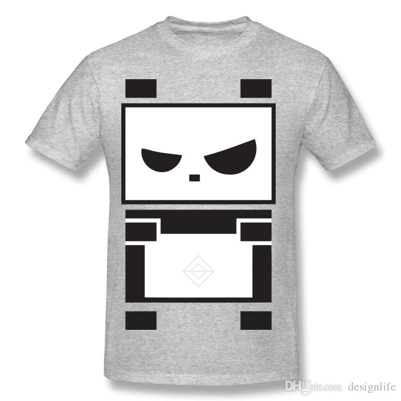 On Sale Men's Cotton Angry Panda T Shirts Men's Round Collar Beige Short Sleeve Tee Shirt Big Size Casual T Shirts
