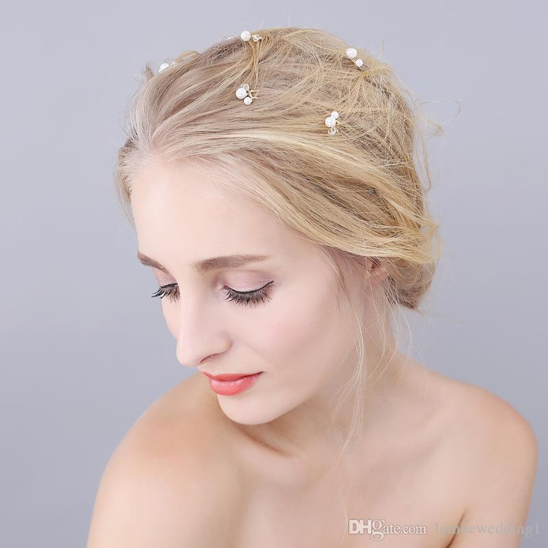 Delicate Bridal Accessories Hair Pins For Wedding Pearl And Crystal Simple Bridal Headpieces Lightweight Sweet Hair Adornments