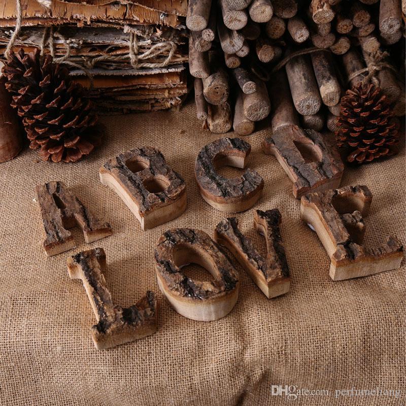 10 cm À La Main En Bois Artisanat En Bois Chiffres 0 À 9 Alphabet Numérique Numéro De Mariage Anniversaire Décor À La Maison ZA6724