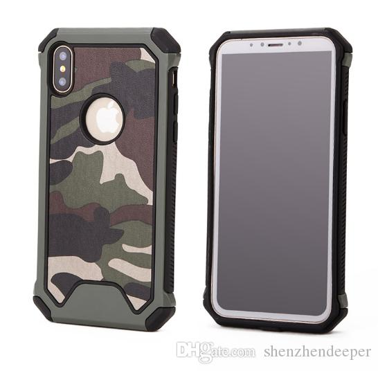 db1fcdf55b Cases For Iphone 6 7 8 Plus X Shockproof Case Military Camouflage Pattern  TPU+PC Army Green Anti-knock Armor Frame Back Cover