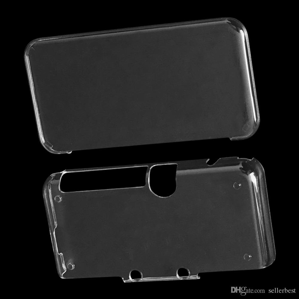 Material de PC leve portátil Crystal Case Capa Protetora para Nintendo 2DS XL New Game Case
