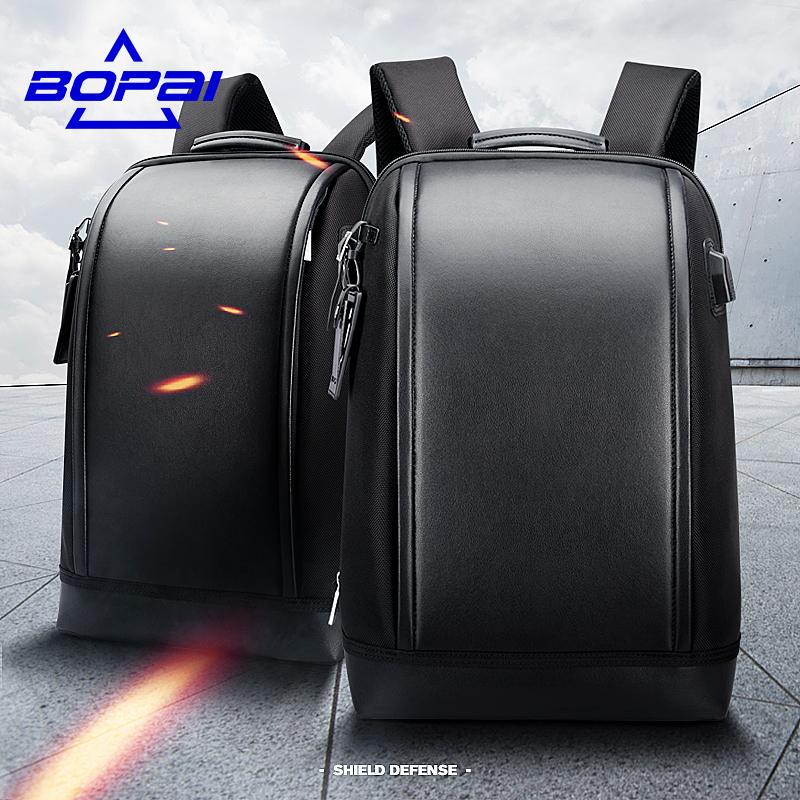 Bopai Shell Shape Business Men S Office Work Backpack Usb Charge