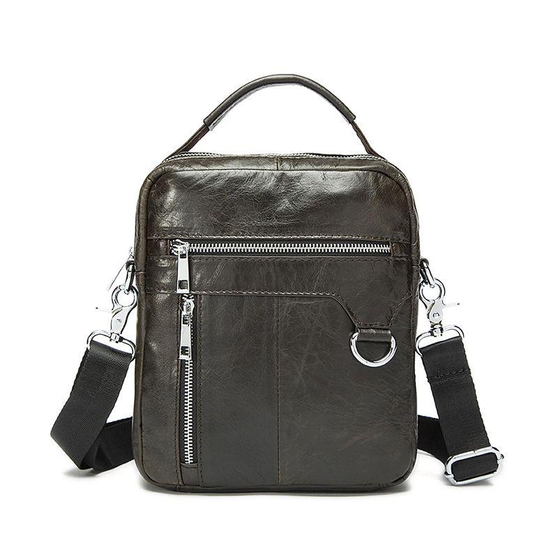 b8effe8d7c OZUKO 2018 Hot Sale Men Bag 100% Genuine Leather Shoulder Bag Fashion Men  Leisure Small Crossbody Handbag Men S Travel New Cheap Designer Bags  Satchel ...