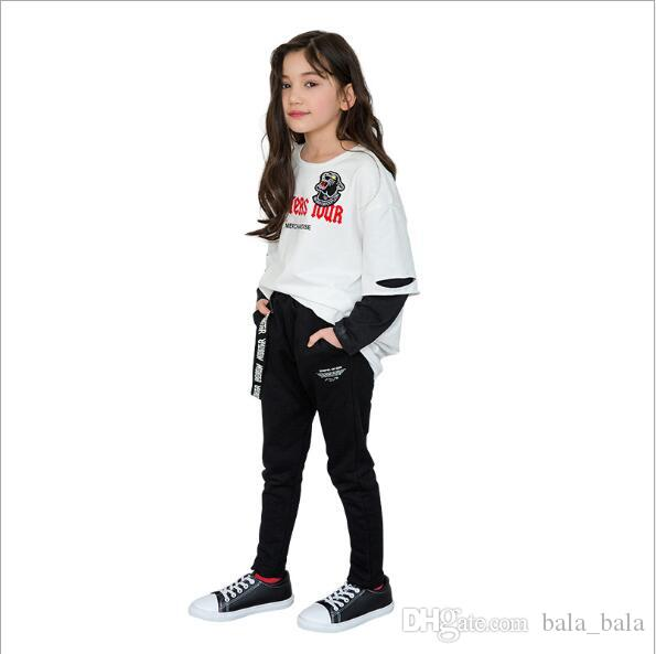 8fa70068f686 Set Kids Long Sleeve Pullover + Pant Child Girl Casual Autumn Style ...
