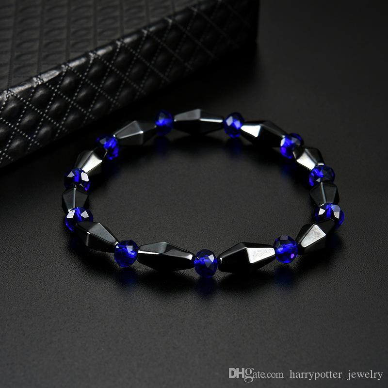 boncuk bilezik maxi ifadesi olacak erkekler kadınlar moda takı için mavi taş bilezik etnik tarzı bilezik ve kumlu Damla gemi hematit