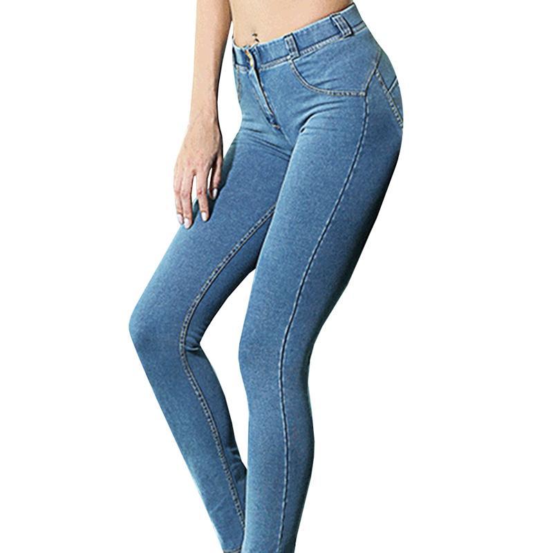 327c055fa9 Compre Moda Otoño Mujeres Skinny Jeans Push Up Lift Hip Slim Elástico De  Cintura Baja High Street Pantalones De Mezclilla Mujer Lápiz Jeans  Pantalones A ...
