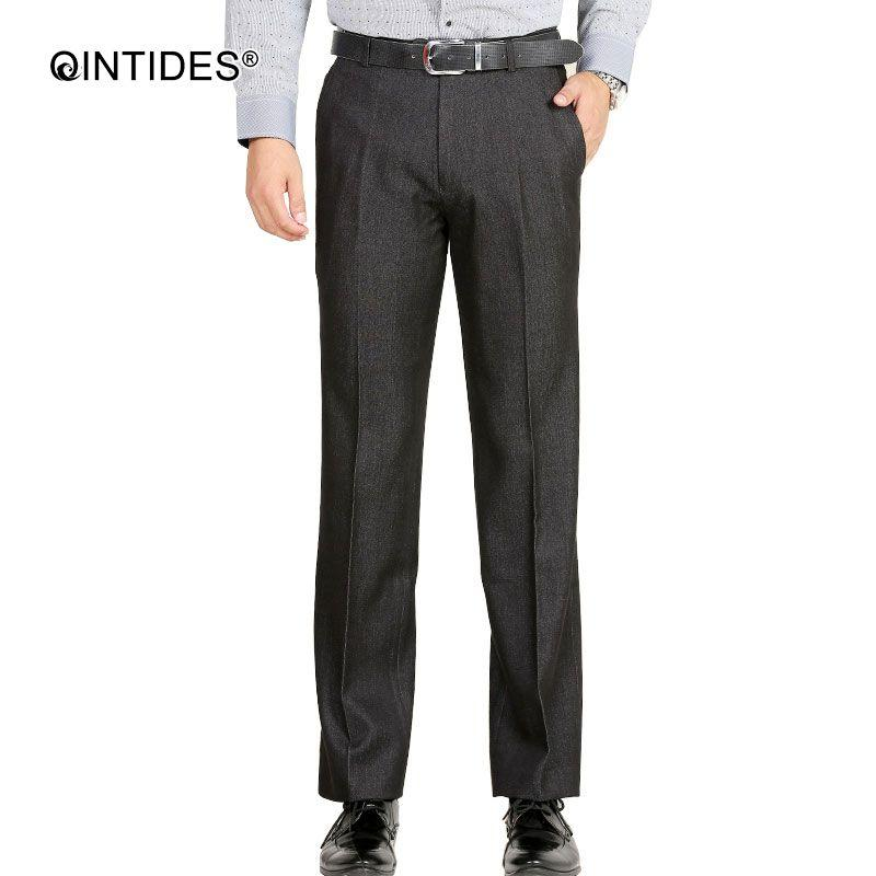 86608631 QINTIDES heavy weight blazer dress Professional business mens dress pants  men fashion easy-care suit pants