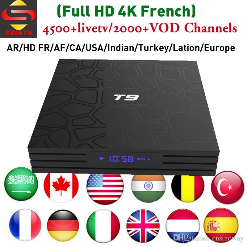 Canada IPTV Set Top Box SINOTV iptv subscription Arabic France UK USA  Enlgish Best Indian Turkey IP TV channels T9 RK3328 Android-TV-Box