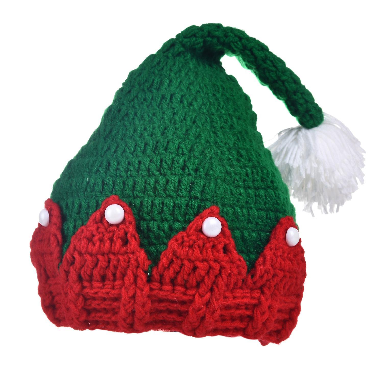 50983cc853b7 Acheter Bonnet En Laine Pour Bébé Bonnet Bébé Chapeaux De Noël Vert Pour Bébé  Garçon Fille Crochet Chapeau De Noël En Laine Boutique Perle Bijoux 2185 De  ...