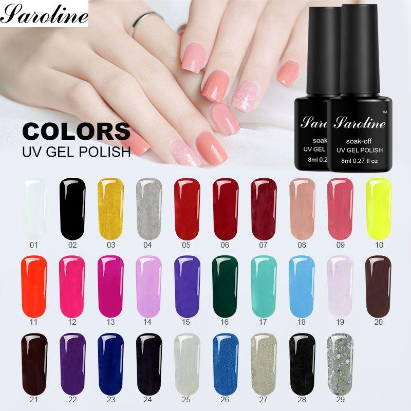 Saroline Hybrid Colorful Nails Gel UV Colors DIY Gel Gellak Lakiery ...