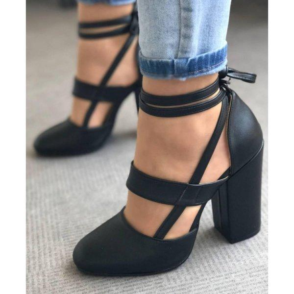 ddafcb40b67 Women Wedding Shoes Woman Pumps Thick High Heels Ankle Strap Ladies  Gladiator Zapatos Mujer Sapato Feminine Chaussure WM17973 Strappy Heels  Geox Shoes From ...