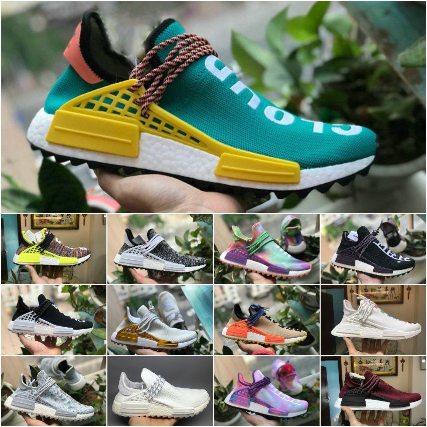 buy online 708a0 53b4f Acheter 2018 Nouveau Original Pharrell Williams Humain Race Hu Nmd Trail  Hommes Designer Sport Chaussures De Course Pour Hommes Sneakers Femmes  Casual ...