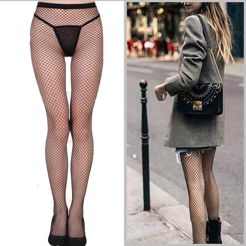 9c71fc062fe9 New Hot Selling Women's Long Sexy Fishnet Stockings Black Elastic Pantyhose  Mesh Stockings Lingerie Skin Thigh High Sex Products