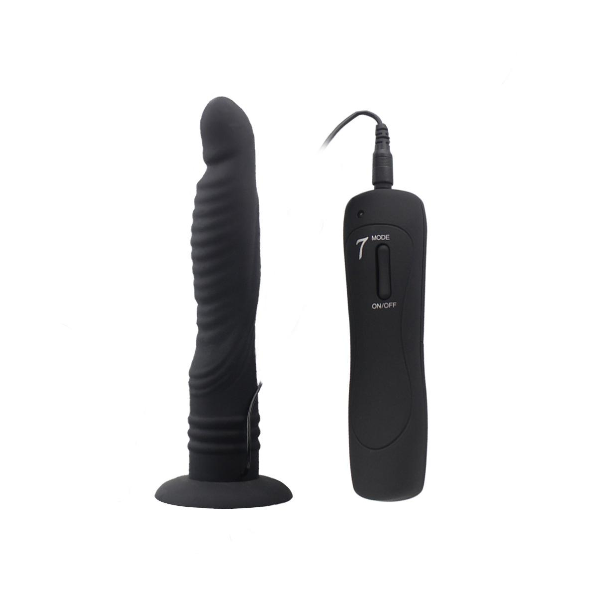 7 mode G-spot dildo vibrator vibe with sucker masturbation cunt insertion vagina massage adult sex toys for women pink black AFL-hc84017