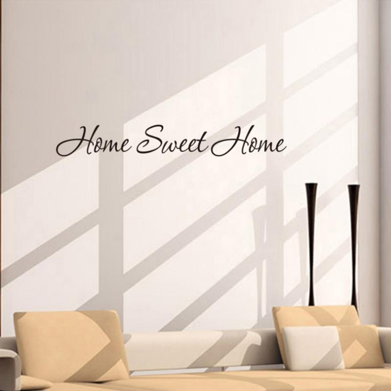 fashion design diy letter quote home sweet home wall stickers