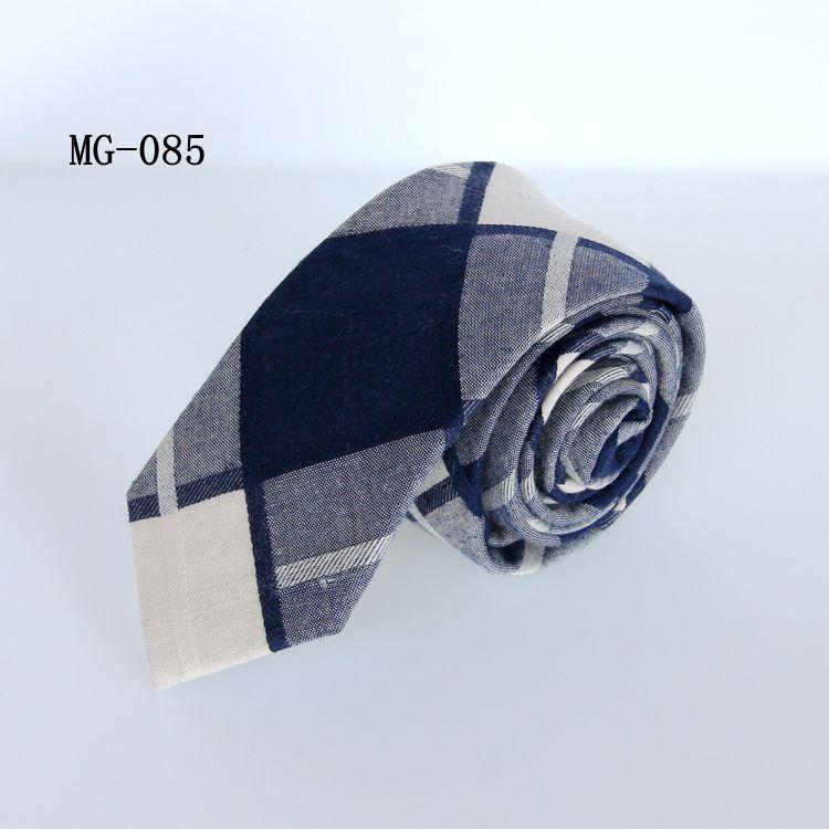 lazos de algodón unisex 6cm de ocio corbata del estudiante para mujeres de los hombres de negocios de cuello cheque lazo a cuadros flaco jacquard corbata roja