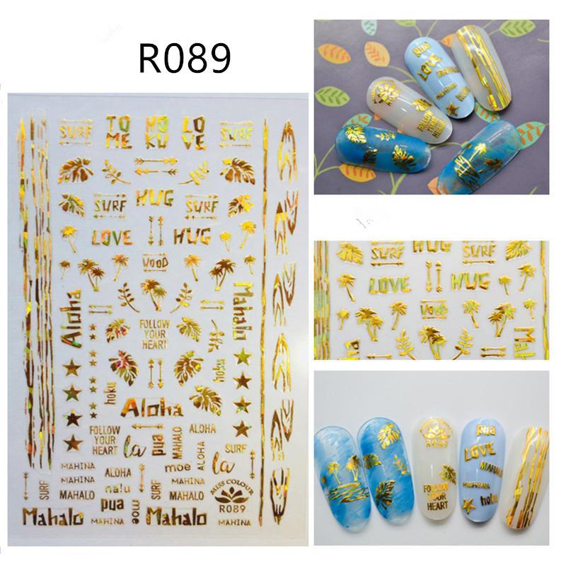 Großhandel Gold Silber 3d Nail Art Sticker Hohl Decals Mixed Designs ...