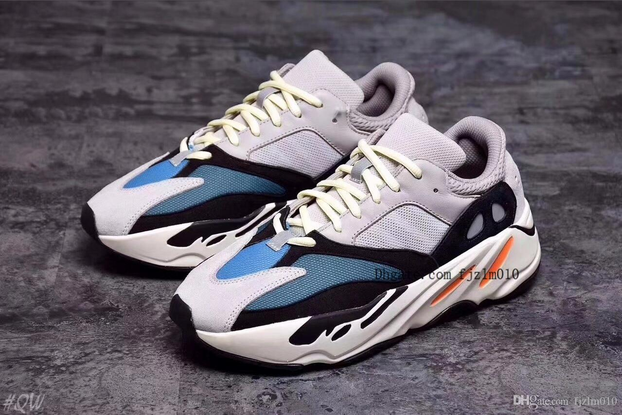 quality design dad67 3bbcf Wave Runner 700 Boost Kanye West Shoes Mens Women 700 Casual Shoe Sneakers  Wholesale 700 Boost Running Shoe 36-45