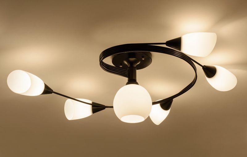 Acquista moderno blu rosa lampada da soffitto in metallo art deco