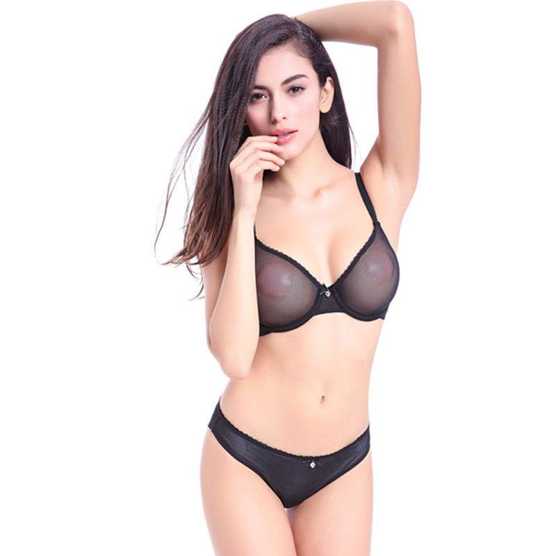 55d3511e59d891 Mode Transparent Ultra-Thin Dessous Unterwäsche Solide Spitze Durchsichtig  Dessous Frauen Bh Neue Heiße Sexy Weibliche